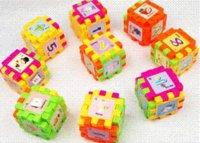 achat en gros de des blocs de magnésium-68pcs / PLASTIQUE animaux Building Blocks Building Blocks assemblés Enfants Enfants Apprendre jouet bloc de magnésium jouet éducatif automobile