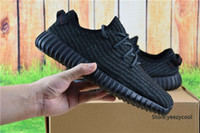 Cheap Adidas Yeezy Boots 350 Men Women Running Shoes Yeezys 350 Boost Cheap 2016 New Hot Sale Sports Shoes Pirate Black Size 5-11.5
