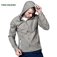 Wholesale FREE SOLDIER outdoor elastic men s breathable sun block clothes summer UV proof coat tactical skin coat