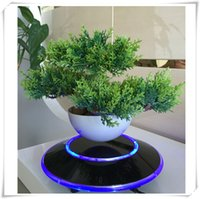 artifical bonsai - 1 dhl free maglev levitating air plant bonsai display stand for decorative artifical with ufo base