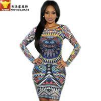 adult tattoo sleeves - 2016 new so hot foreign trade dress Hot Digital Printing tattoo bandage dress star burst Dress s xl