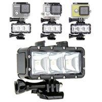 Wholesale Diving LED flash light lamp Flashlight Mount Underwater Waterproof Video for GoPro Hero SJCAM SJ4000 sj7000 Xiaomi Yi SUPTIG