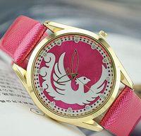 best fire steel - Luxury Diamond Lady Wrist Watch Quartz Hours Best Fashion Bracelet Fire phoenix Luxury Rhinestones Leather watch Women s Birthday Gift