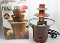 Wholesale 2016 New Arrival Chocolate Fondue Mini Chocolate Fountain Household tier Machine Choco Tree Eu Standard With English Manual
