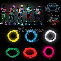 Wholesale 2M colors USB Cable LED Christmas stripe Wire Rope Flexible Neon LED Light Glow Battery Power Party Decor V