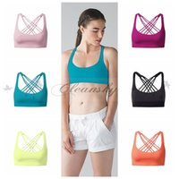 Wholesale Sexy Women Gym Sports Tank Tops Sleeveless Yoga Shirts Training Running Fitness Camis With Padded Bra Backless Across M444