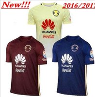 away pink soccer - Top Quality Mexico Club America Soccer Jerseys Home Yellow Away Red Blue MICKY O PERALTA SAMBUEZA D BENEDETTO football Shirts