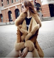 Wholesale New arrival Ladies Long cashmere coat imitation wool fur coat lined with warm wool Faux Fur