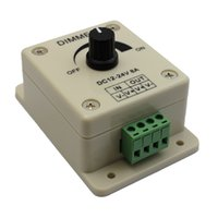 Wholesale 12 V A W Single Color Knob LED Dimmer Controller PWM Dimming Controller for Warm Cool White LED Strip Lights