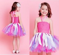 baby girl picture - Hot Pink Cute Flower Girl Dresses Halter Neck Mini Short Colorful First Communion Dresses Little Baby Girls Birthday Ball Gowns Cheap MC0221