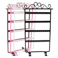 Wholesale Useful Holes Black Jewelry Handing Earring Display Necklace Showcase Rack Stand Holder Jecksion