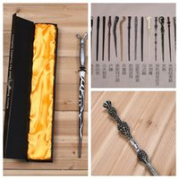 Wholesale Fedex DHL Free With box Harry Potter Magic Wand Dumbledore Magic Magical Wand Cosplay Wands Non luminous Z144