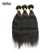 Wholesale Allybeauty Brazilian Straight Hair Weave Bundles a Unprocessed Human Hair Extensions Brazilian Hair Silky Straight Bob Star Style