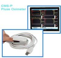 based medical - CMS P PC Based USB Interface Health Medical Oxygen Saturation Test SpO2 sensor Pulse Oximeter Monitor Oximetro de Pulso Oximetry