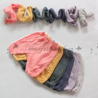 baby capri pants - Korea Style Summer Baby Boy Girl Capri Pants Kids Bottoms Casual Children Soft Cotton Linen Trousers Loose Casual Bloomers Harem Pants M282