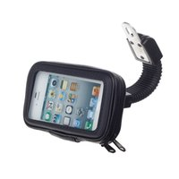 based mobile - 2016 New apple s M08 four base scooter mobile phone waterproof bag holder black Motorcycle bicycle cell phone holder