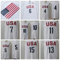 Wholesale USA Olympic Basketball Jerseys Basketball Jerseys Cheap USA Olympic Basketball Shirt USA Olympic Basketball Wears Discounted Sale