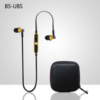 apple bs - 2016 New HOT Original BS UBS Universal Wireless Bluetooth Sport Earphone In Ear Earphones For Sony Z2 Sumsang S6 with retail package