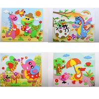 Wholesale Mix Color Educational D Eva Foam Sticker Puzzle Toys Crafts For Children Baby DIY Handmade