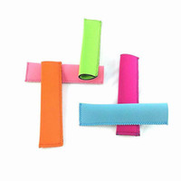 Wholesale DHL Popsicle Holders Pop Ice Sleeves Freezer Pop Holders Cream Covers Ice Lolly in Summer