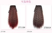 Wholesale 2016 New Fashion colors Inch High temperature hot corn Silk ponytail strap style Synthetic one piece pony tail for women