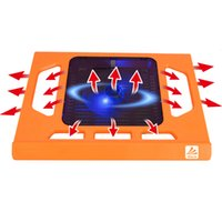 Wholesale 2016 Laptop Cooling Pad Multi Shine Bright Color USB One cm LED light Fan Height Adjustment