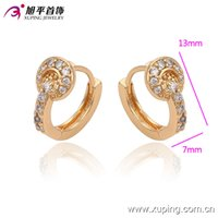 huggies - Hot Sell K Gold Plated Earrings For Women Environmental Copper Jewelry Huggies Inlay White Cubic Zirconia