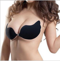 Cheap 2015 4 color girl Lady women Invisible Silicone V shape Strapless Bra Push UP Bust breast pad insert Nipple Cover underwear BBB3023 2000PAIR