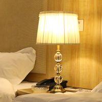 Wholesale Hotel Bedroom Light Fixture Table Lamp K9 Crystal E27 Bulb V Crystal Table lights For Bedroom