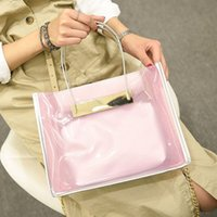 abs colored lights - 2016 Summer Transparent Candy Colored Crystal Totes Jelly Bag Beach Bags Women Handbags Chain Shoulder Bag for Women