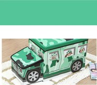 air supply cover - Manufacturers supply air force camouflage children clothing storage stool folding stool cartoon toy car The coated non woven stool