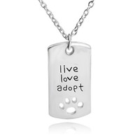 mothers day gift - 2016 live love adopt footprints love heart shaped necklace loving father faher s Day gift jewelry between mother and daughterZJ