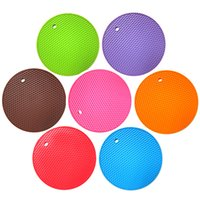 Wholesale New Arrival Hot Sale Candy Honeycomb Silicon Placemat Pot Mat Non slip Heat Resistant Pad Coaster RV1