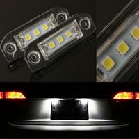 benz plate - 2pcs LED Error Free Number License Plate Light Bulbs Car Light Fit For Volv o S80 S60 V60 C70 V70 XC70 XC90 XC60 V50 S40