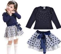pettiskirt set - Flower Big Girls Kid Toddler Baby Princess Party Pageant Tulle Tutu Dress Sets Top T Shirt Pettiskirt Summer Children Clothing