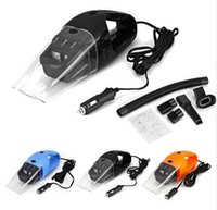 Wholesale DHL fast NEW Portable Car Vacuum Cleaner Wet and Dry Aspirador de po dual use Super Suction W Car Vacuum Cleaner HEPA Filter