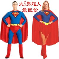 Wholesale New Mens Halloween Costumes Autumn anime cosplay costume Masquerade suit Muscle models Batman Superman Cosplay Dancewear Adult