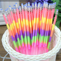Wholesale High Quality Rainbow Pen Gel Pen Refills School Office Marker Pens Supplies in Color Pen Refills Papelaria
