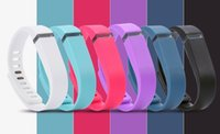 Wholesale DHL Fast Ship Silicone Replacement Rubber Band with Clasp for Fitbit Flex Bracelet Wrist Strap High Quality Colors