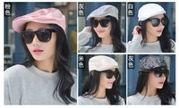 Wholesale free shippping Fashion Lady Summer Sequin Beret Peaked Cap Hat