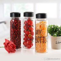 Wholesale Korea style new design Today s special plastic sports water bottle with words quot My bottle quot and a gift bags hot drinkware Lemon cup Japan style