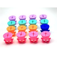 Wholesale 2016 Soft Silicone Nail Gel Polish Bottle Holder Colorful Wearable Finger Ring For Nail Art Tools