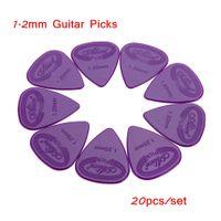 20pcs guitarra acústica Selecciones Púas Accesorios Piezas de 1,2 mm Proyección de nylon Selecciones púas de guitarra Accesorios de piezas
