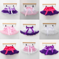 baby birthday gift - 2016 Infant Baby Ruffle Tutu skirt Baby Girl Pettiskirt ball gown skirt Newborn Elastis Waist Lace Bow Bloomers Birthday Gifts Photography