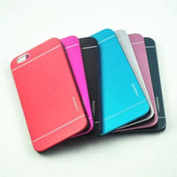 pocket pc - Iphone s Case Motomo Luxury Metal Aluminum Brushed PC Hard Back Cover Skin Ultra Thin Slim Brush Cases For iPhone plus Samsung LG
