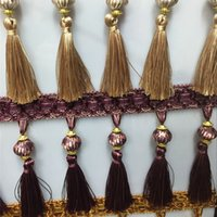 beads curtain designs - Beads Design Curtain Fringe Tassel Lace Colors Curtain Fringe with M bag Packing for Hometextiles Decorations SHF027