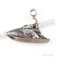 antique yacht - Latest Design Driver Yacht Alloy Antique Silver Plated charms Pendants Fit Jewelry Making x19x4mm