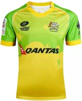 australian shirt - 2016 Australia rugby jerseys Australian national team rughy shirts home yellow top quality camisetas