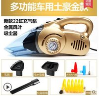 Wholesale Car vacuum cleaner air pump Four high power V automotive inflatable wet and dry vacuum cleaner
