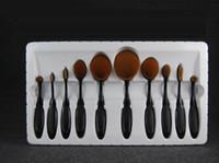 Wholesale Makeup Brushes Set Oval Blending Brush Multipurpose Mermaid Toothbrush Foundation Powder Soft Face Brushes Make up Tools